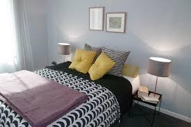chambre gris blanc bleu deco chambre gris et jaune decoration chambre gris et jaune visuel
