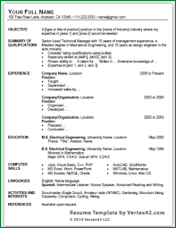 9 simple resume format download in ms word applicationsformat info
