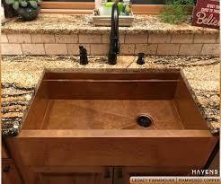 copper apron front sink build a legacy copper farmhouse sink havens metal