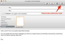 Apple Mail Template how to create reusable apple mail templates