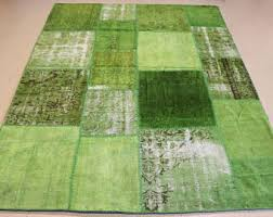 Bright Green Area Rugs Lime Green Area Rug Etsy
