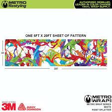 metro white paint splatter vinyl wrap film shop online or call
