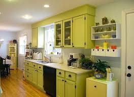 kitchen vintage lime green kitchen cabinet decor ideas with