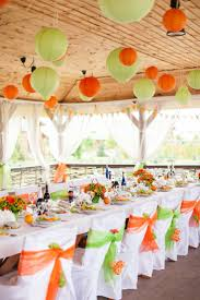 green and orange are perfect wedding colors for fall weddings