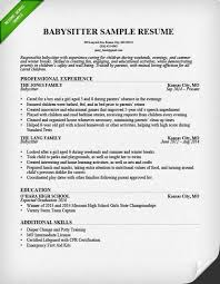 sample cover letter for babysitting job