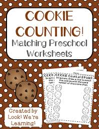 preschool worksheets cookie counting worksheets for preschool