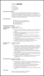 Sample Resume For Digital Marketing Manager by Free Contemporary Marketing Resume Templates Resumenow