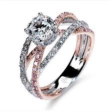 gold wedding ring designs silverstein split shank 18k gold diamond engagement