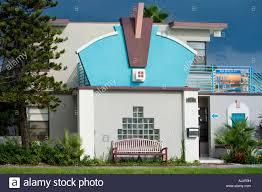 googie architecture royal north beach condo rental resort in stock
