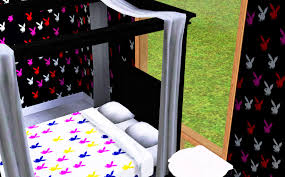 Playboy Bed Set Mod The Sims Playboy Bunny Recolorable Pattern Set
