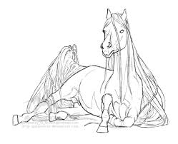 coloriage chevaux les beaux dessins de animaux à imprimer et