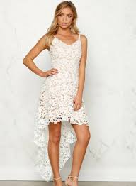 floral lace trim asymmetric spaghetti strap dress oasap com