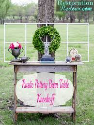Knock Off Pottery Barn Furniture Rustic Pottery Barn Console Table Knockoff Restoration Redoux
