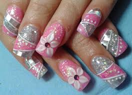 nail art design gel nails u0027flowers u0027 pinterest acrylic nail