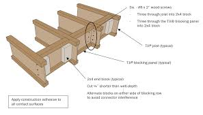 kitchen island design considerations wood products blog figure 2 joist blocking details