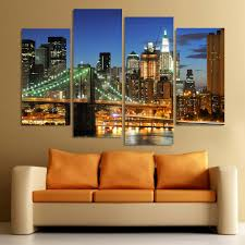 popular london canvas art buy cheap london canvas art lots from 4 piece canvas art hd london bridge wall art decoration for home living room or bedroom
