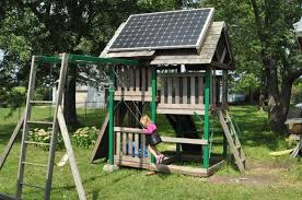 Diy Backyard Swing Set Solar Swing Set Pv Playhouse 9 Steps With Pictures