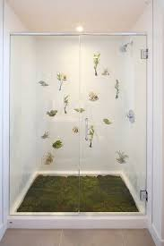 glass door stickers home design fantastic and unique small bathroom idea with moss