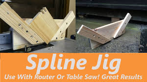 can you use a table saw as a jointer how to make a spline jig use with table saw or router youtube
