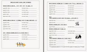 warren sparrow singular and plurals worksheets