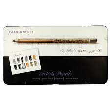 rowney artists sketching pencils set of 12