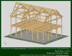 Two Story Barn Plans Timber Frame Homes And Barns In 3d Pdfs