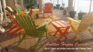 Folding Adirondack Chairs Sale Outdoor Poly Furniture Amish Polycraft 881e Folding Adirondack