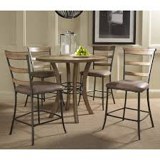 Round Wood Dining Room Tables Hillsdale Furniture 4670ctbws5 Charleston 5 Piece Counter Height
