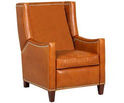 heywood wing back recliner with nailhead trim leather recliners