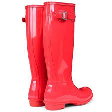 womens hunter original tall gloss rain boots winter festival
