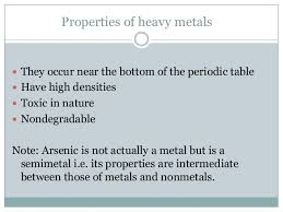what are the heavy metals on the periodic table heavy metals