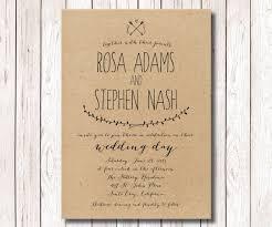 wedding invitations kraft paper rustic wedding invitation kraft paper invitation wedding with