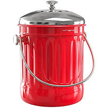 compost canister kitchen premium quality stainless steel compost bin 1 3