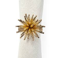 how to set a table with napkin rings starburst napkin ring set of 4 set the table entertaining