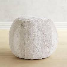 faux fur round ottoman products bookmarks design inspiration