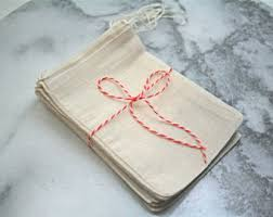 muslin favor bags cotton drawstring bags all sizes from olivemanna on etsy studio