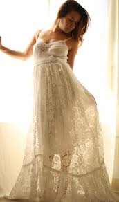 rustic romance wedding gown in vintage lace wedding gowns