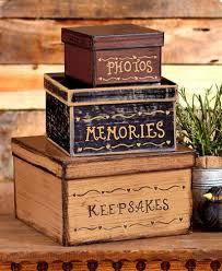 stackable boxes home decor keepsake memory box set vintage