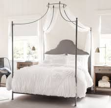 Wrought Iron Canopy Bed Canopy Iron Bed Allegra Iron Canopy Bed Fog Vintage Velvet 19th