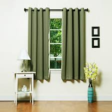 Blackout Curtains Grommet Grom 63 Olive Olive Basic Solid Grommet Thermal Insulated Blackout