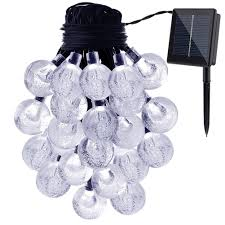 Solar Led Patio String Lights Outdoor Modern Outdoor Bulb Patio String Light 25 Satin Clear