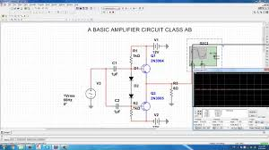 Transformer Coupled Transistor Amplifier Schematic The Amplifier Circuit Class Ab Is Simulated By Multisim 13 0 Youtube