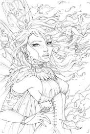 267 best fantasy lady coloring pages images on pinterest
