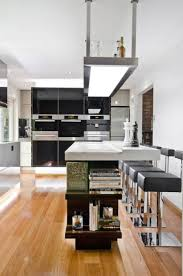 kitchen room creative black white flamboyant contemporary