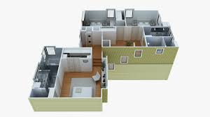 3d Home Layout by Marvelous 3d Home Plans 3 House Floor Plan Blueprint Impressive 8