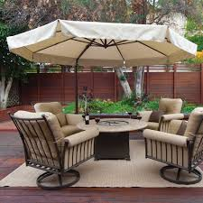 Outdoor Umbrella With Lights On Sale Bali Pro 10 U0027 Square Rotating Cantilever Umbrella With