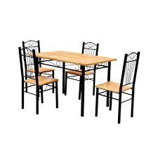 Esszimmer Bei Amazon Vidaxl Esszimmer Essgruppe Esstisch Mit 4 Stühlen