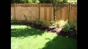 Fencing Ideas For Backyards by Backyard Fence Ideas Youtube