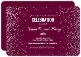 anniversary party invitations custom anniversary invitations