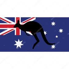 Aussie Flag Australian Flag And Kangaroo U2014 Stock Vector Viktorijareut 106464804
